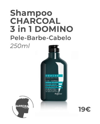 Shampoo CHARCOAL 3 in 1 DOMINO 250ml